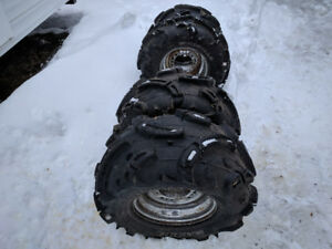 Set of tires and wheels Polaris 600