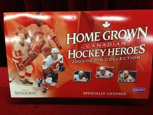 Home Grown Canadian Hockey Heroes Pin Collection