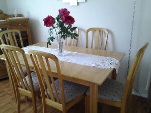 Table en bois 6 places