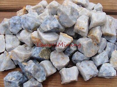 NATURAL BLUE CHALCEDONY QUARTZ - 2000 CARAT Lots - Raw & Uncut Rough GEMSTONES