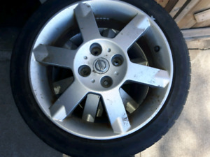 Oem rims with good tires. Nissan sentra