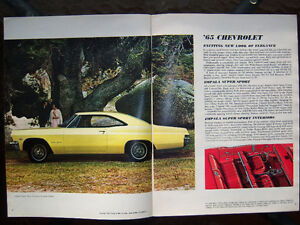 1965 Chevrolet dealer showroom catalog ..... all models London Ontario image 2