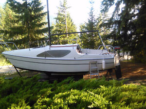 Reinell 22 Sailboat with trailer