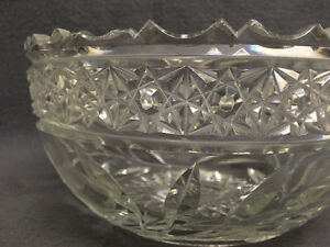 Collectible Antique Heavy Crystal Bowl London Ontario image 3
