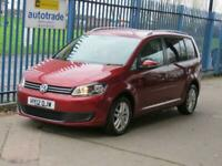 2012 12 VOLKSWAGEN TOURAN 1.6 SE TDI 5DR106 BLUETOOTH CRUISE PRIVACY ALLOYS ROOF
