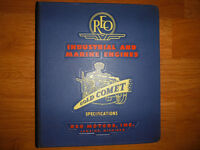 1954 Reo Industrial And Marine Engines Gold Comet 331 O.A Manual