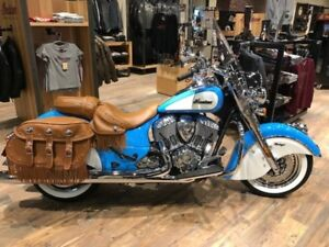 2018 Indian Motorcycle Chief Vintage ABS Sky Blue over Pearl Whi