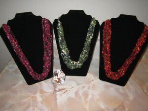 Crocheted Multi Strand Necklaces