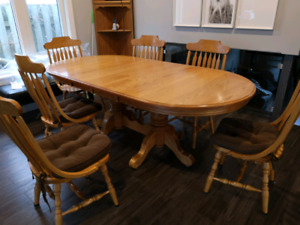 Dining Table - Solid Oak, double pedestal