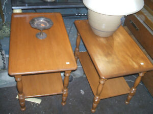 VINTAGE ROXTON MAPLE END TABLES/NITE TABLES/free delivery