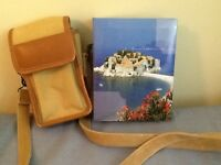CAMERA BAG & PHOTO ALBUM Leather & canvas CAMERA BAG .   4x 6 PH