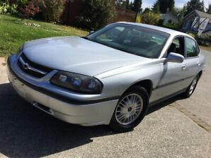 2002 Chevrolet Impala   Low miles = 133,440km