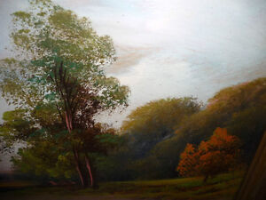"Original Oil Painting ""Early Summer Path"" Vintage Early 1900's Stratford Kitchener Area image 3"
