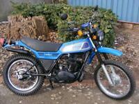 Yamaha DT250mx classic trail bike 1977 2 stroke low miles original restored MOT