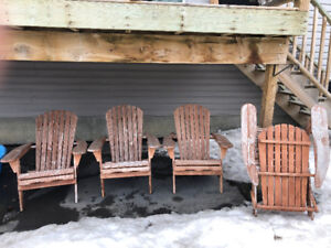 Wooden Foldable Adirondack Outdoor Lounge Chairs