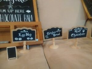 chalk signs for wedding or parties candy/ hot chocolate bars Cambridge Kitchener Area image 4