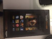 Amazon Kindle Fire HDX 7 inch, 3rd generation 16gb with red leather cover