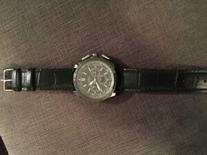 Guess Watch Black - Mint Condition - NEW Alligator Grain Strap London Ontario image 3