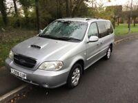 2006 Kia Sedona 2.9 LE Auto-62,000-12 months mot-2 previous owners-6 seats-great value