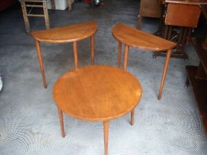 reduced set of  small tables 1/2 moon and round