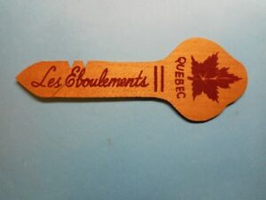 Carte postale forme de clef  Québec Les Éboulements