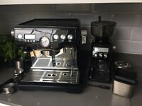 Sage 'The Dual Boiler' Coffee Machine Black, with Sage Grinder Pro and Knockbox