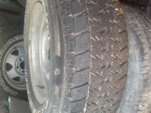 ROUGHRIDER AT M+S 235 75 R15 ON JEEP RIMS +SPARE