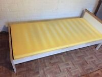 Children's child kids toddler single bed with mattress, width 77cm and length 165cm