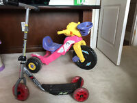 scooter and tricycle