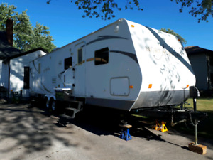 2008 north  double bunkhouse trailer