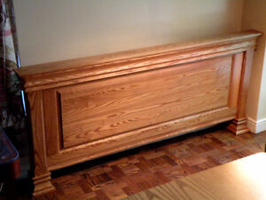 Solid oak head board for Queen-size bed