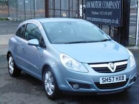 Vauxhall Corsa 1.2i 16v, 65 000 Miles, 2007, FSH, 3 Door, 6 Months AA Warranty