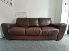 **FREE** 3 seater brown leather sofa