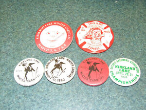 6 different Kirkland Lake Winter Carnival, Santa Express pins