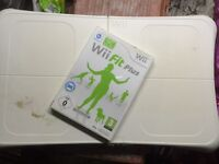 Wii fit board and woo fit plus disk