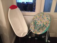 Baby bath and bounce chair