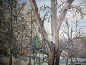 "Original Oil Painting ""Skating on the stream"" Stratford Kitchener Area image 8"