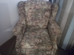 2 Comfortable Chairs in Mint Condition French Theme Fabric  $225