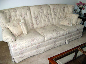 Show-room condition!  Chesterfied & matching armchair