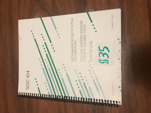 SOC104 Course Pack