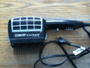 Conair Ion Shine Hair Dryer Blow Style  removable comb &