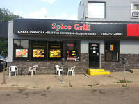 Spice Grill- $12-$17 FT Cook. (Whyte ave)