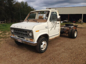 1977 Ford 1 Ton Dually Partial Cab and Chassis- Retired RV