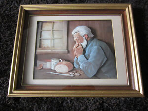 VINTAGE HAND MADE TOLLE PICTURE FRAMED 14X11X1 1/2""