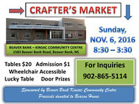 CRAFTER'S MARKET - Tables available
