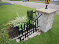 Custom-Built steel corner fence decor