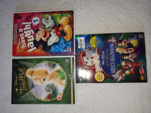 Tinkerbell, Little Mermaid, Mickey DVD'S