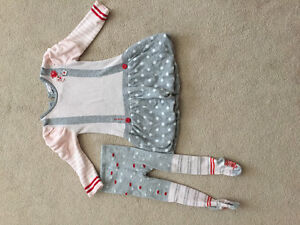 Deux par Deux Dress & Tights (18 mos)