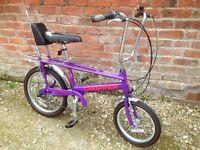 Raleigh chopper bike purple