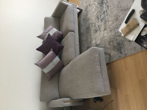 Grey L shape sofa